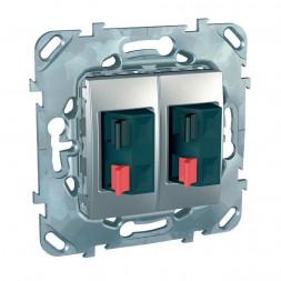 Аудиорозетка двойная Schneider Electric Unica MGU5.8787.30ZD