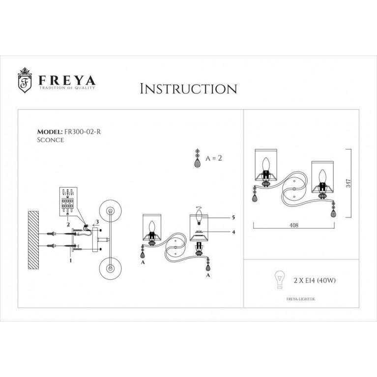 Бра Freya Faust FR2300-WL-02-BZ