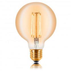 Лампа светодиодная филаментная E27 4W 2200K золотая 057-318