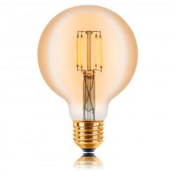 Лампа светодиодная филаментная E27 4W 2200К золотая 057-301