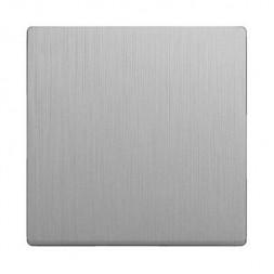 Лицевая панель выключателя перекрестного cеребряный рифленый WL09-SW-1G-C-CP 4690389100352