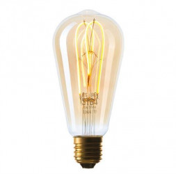 Лампа светодиодная филаментная диммируемая E27 5W 2200K золотая 057-356