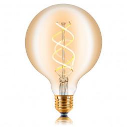 Лампа светодиодная филаментная диммируемая E27 5W 2200K золотая 057-370
