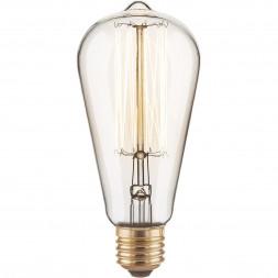 Лампа накаливания диммируемая E27 60W прозрачная 4690389082153