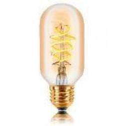 Лампа светодиодная филаментная диммируемая E27 5W 2200К золотая 057-387