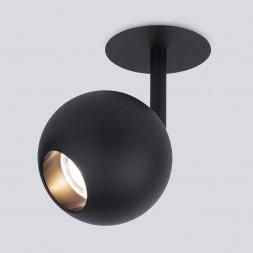 Встраиваемый светодиодный спот Elektrostandard Ball 9925 LED 8W 4200K черный 4690389169823