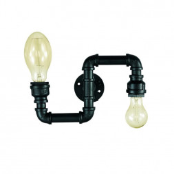 Бра Ideal Lux Plumber AP2 Nero