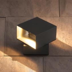 Уличный настенный светодиодный светильник Elektrostandard 1607 Techno LED Fobos графит 4690389086069