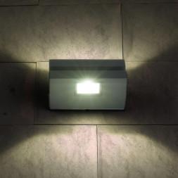 Уличный настенный светодиодный светильник Elektrostandard 1611 Techno LED Nerey серый 4690389086151