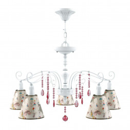 Подвесная люстра Lamp4you Provence E4-05-WM-LMP-O-14-CRL-E4-05-PK-DN