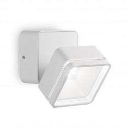 Уличный настенный светодиодный светильник Ideal Lux Omega Square AP1 Bianco