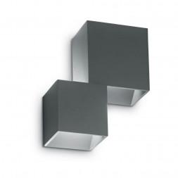 Уличный настенный светодиодный светильник Ideal Lux Rubik AP2 Antracite