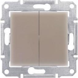 Переключатель двухклавишный Schneider Electric Sedna 10A 250V SDN0600168