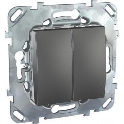 Переключатель двухклавишный Schneider Electric Unica 10AX 250V MGU5.213.12ZD