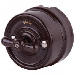 Переключатель одноклавишный Retro коричневый WL18-01-03 4690389100680