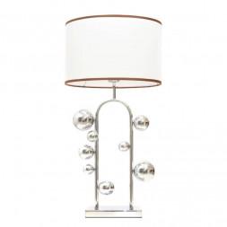 Настольная лампа Lumina Deco Fabi LDT 5528 CHR+WT