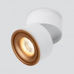 Светодиодный спот Elektrostandard Klips DLR031 15W 4200K 3100 белый матовый/золото 4690389152771