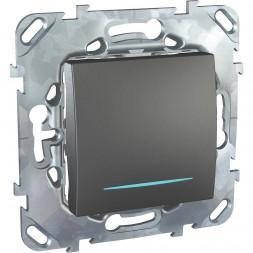 Переключатель одноклавишный с подсветкой Schneider Electric Unica MGU5.203.12NZD