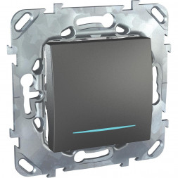 Переключатель одноклавишный с подсветкой Schneider Electric Unica MGU5.205.12NZD