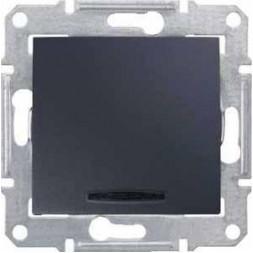 Переключатель одноклавишный с синей подсветкой Schneider Electric Sedna 10A 250V SDN1500170