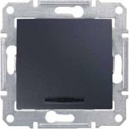 Переключатель одноклавишный с синей подсветкой Schneider Electric Sedna 16A 250V SDN1500270