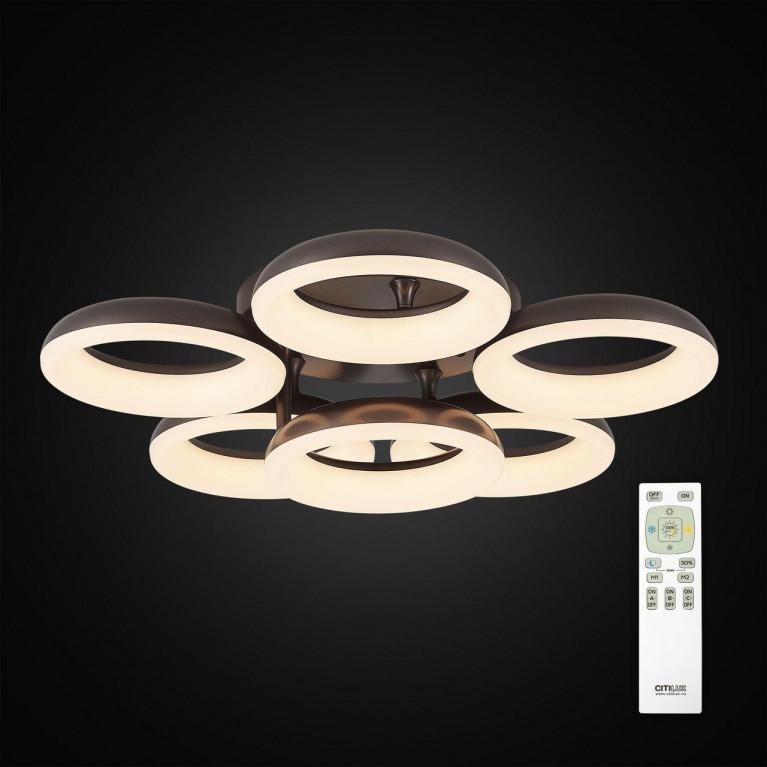 Потолочная светодиодная люстра Citilux Паркер Кофе CL225165R