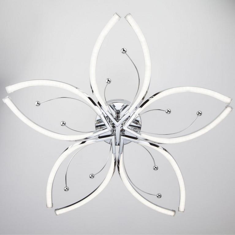 Потолочная светодиодная люстра Eurosvet Fiona 90056/5 хром