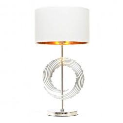 Настольная лампа Lumina Deco Fabi LDT 5531 CHR+WT