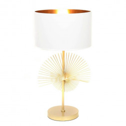 Настольная лампа Lumina Deco Fonti LDT 5534 GD+WT