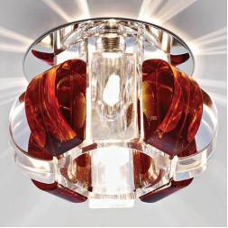 Встраиваемый светильник Ambrella light Glass D1057 CL/TI/CH