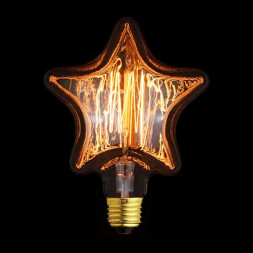 Лампа накаливания E27 40W прозрачная 2740-S