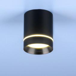 Потолочный светодиодный светильник Elektrostandard DLR021 9W 4200K черный матовый 4690389102929