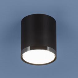 Потолочный светодиодный светильник Elektrostandard DLR024 6W 4200K черный матовый 4690389110375