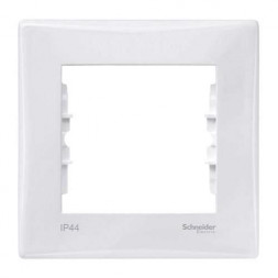 Рамка 1-постовая Schneider Electric Sedna IP44 SDN5810121