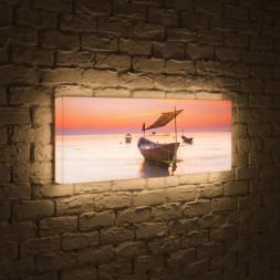Лайтбокс панорамный Лодка 60x180-p023