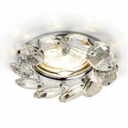 Встраиваемый светильник Ambrella light Crystal K306 CL/CH