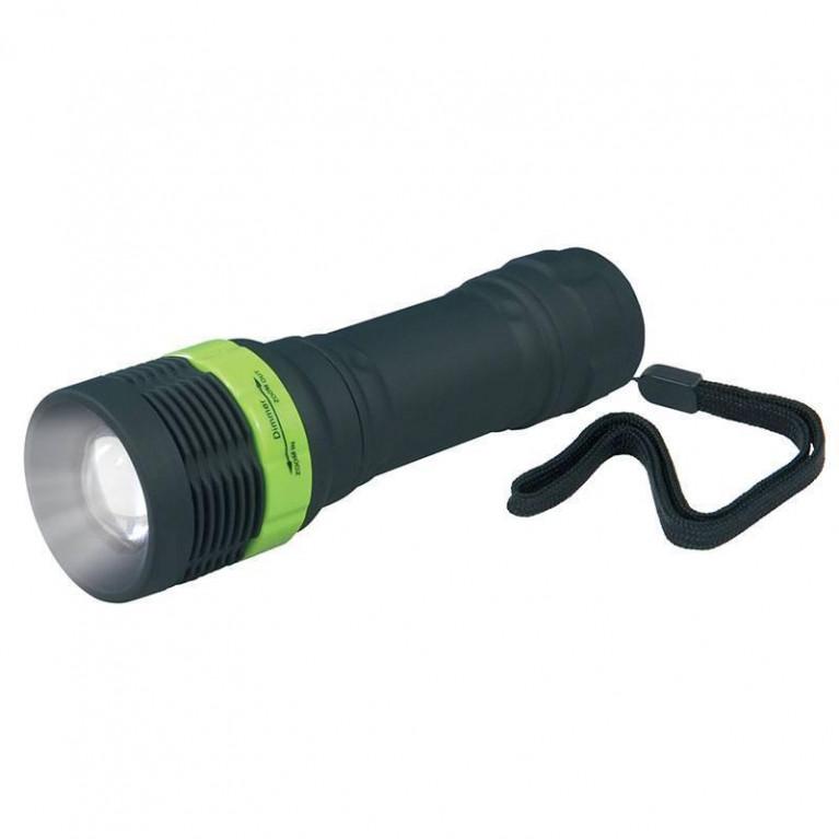 Ручной светодиодный фонарь Uniel (09162) от батареек 121х35 60 лм S-LD039-C Black