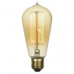Лампа накаливания E27 60W 2700K прозрачная GF-E-764
