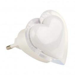Настенный светодиодный светильник (10321) Uniel Детская серия DTL-308-Сердечко/RGB/3LED/0,5W