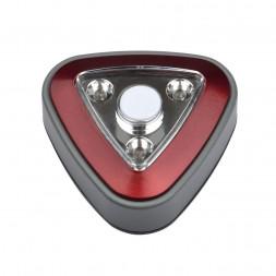 Настенный светодиодный светильник (UL-00001987) Uniel Пушлайт DTL-356 Треугольник/Red/3LED/3AAA
