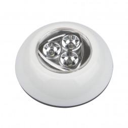 Настенный светодиодный светильник (UL-00001992) Uniel Пушлайт DTL-360 Круг/White/3LED/3АAA