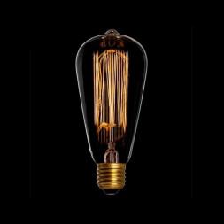 Лампа накаливания E27 40W колба прозрачная ST6419G40
