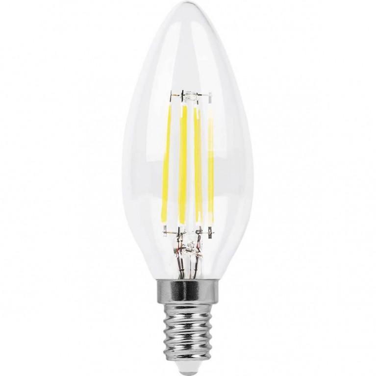 Лампа светодиодная Feron E14 5W 2700K Свеча Прозрачная LB-58 25572