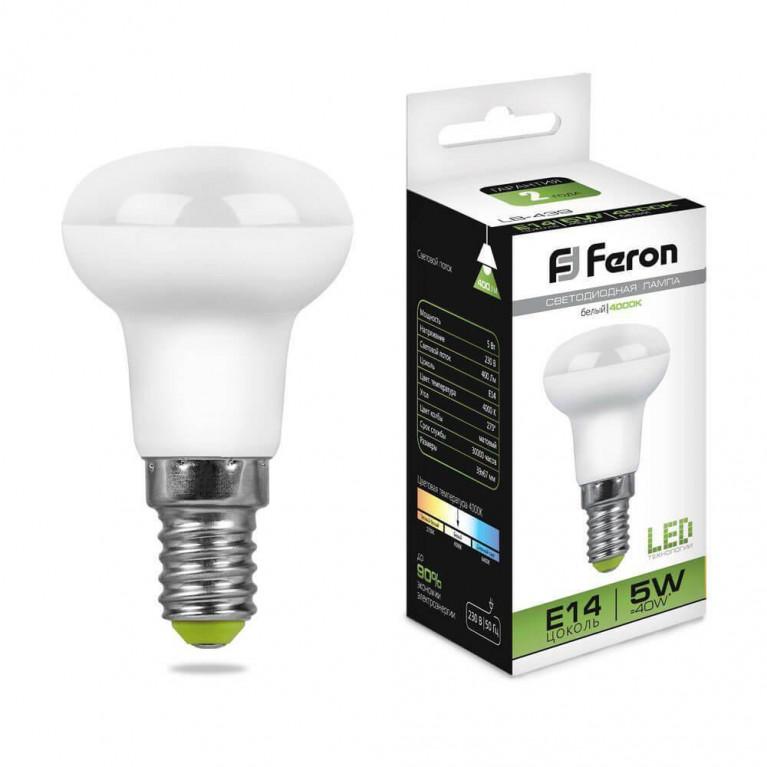 Лампа светодиодная Feron E14 5W 4000K Груша Матовая LB-439 25517