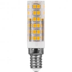 Лампа светодиодная Feron E14 7W 2700K Прямосторонняя Матовая LB-433 25898