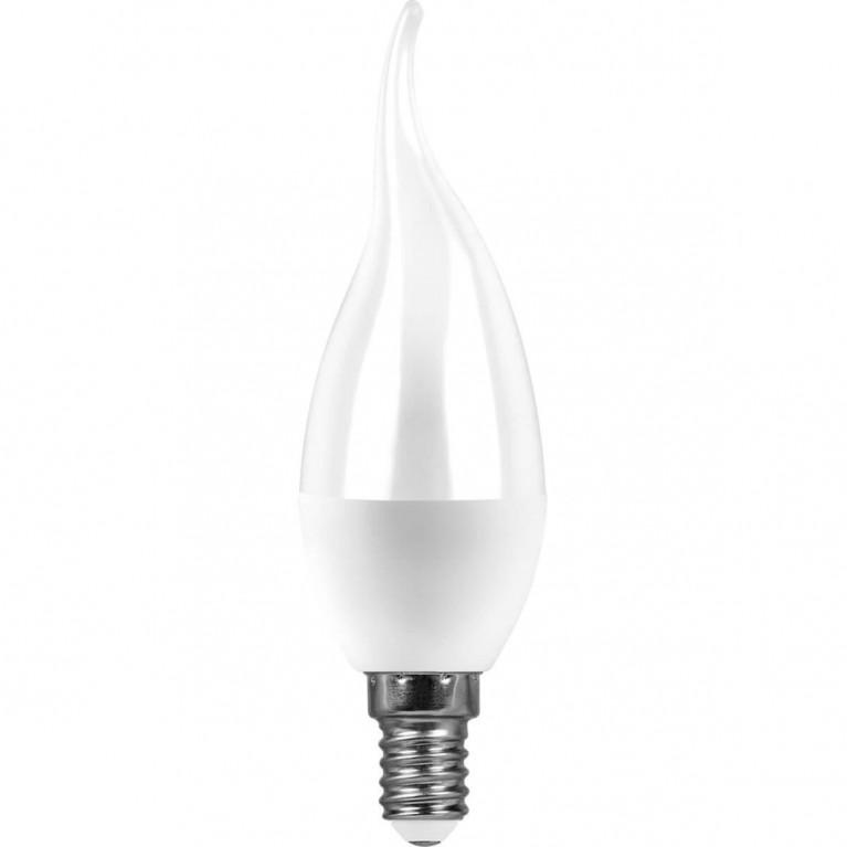 Лампа светодиодная Feron E14 7W 2700K Свеча на ветру Матовая LB-97 25760