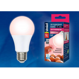 Лампа светодиодная диммируемая для птиц E27 9W LED-A60-9W/SCEP/E27/FR/DIM IP65 PLO65WH