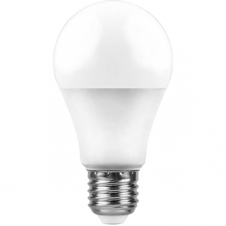 Лампа светодиодная Feron E27 10W 4000K Шар Матовая LB-92 25458
