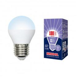Лампа светодиодная (UL-00003833) E27 11W 6500K матовая LED-G45-11W/DW/E27/FR/NR
