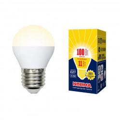 Лампа светодиодная (UL-00003835) E27 11W 3000K матовая LED-G45-11W/WW/E27/FR/NR